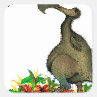 Dodo die Liebe der tony fernandess Quadratischer Aufkleber