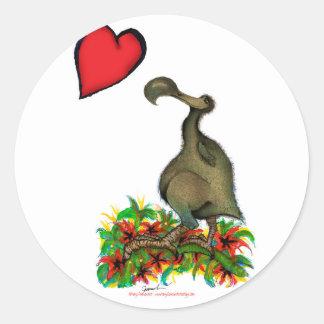 Dodo die Liebe der tony fernandess Runder Aufkleber