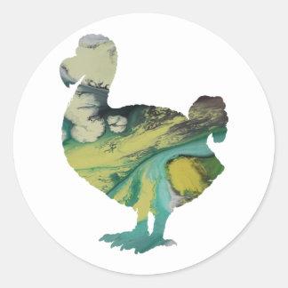 Dodo-Kunst Runder Aufkleber