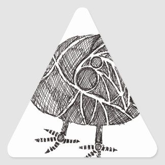 Dodo-Vogel Dreieckiger Aufkleber