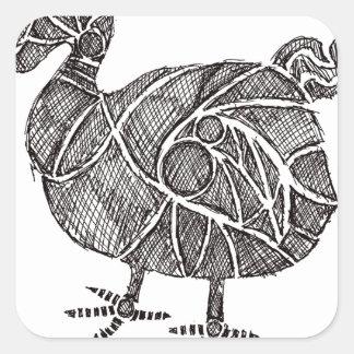 Dodo-Vogel Quadratischer Aufkleber