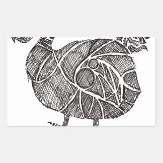 Dodo-Vogel Rechteckiger Aufkleber