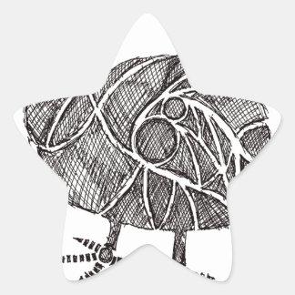 Dodo-Vogel Stern-Aufkleber