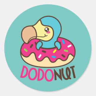 Dodonut Dodo-Vogel-Krapfen Runder Aufkleber