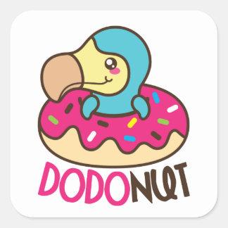 Dodonut (Krapfen) quadratische Aufkleber
