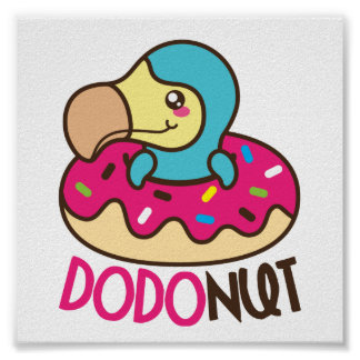 Dodonut (Krapfen- und Dodovogel) Poster