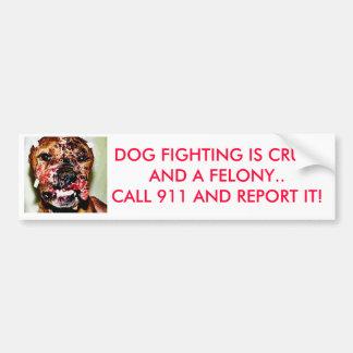 dogfightingrev, HUNDEFIGHTING IST- CRUELAND ein Autoaufkleber