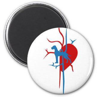 Doggen im Herzen Runder Magnet 5,7 Cm