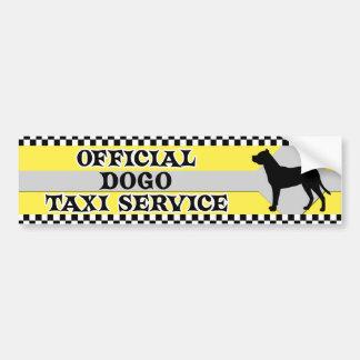 Dogo Argentino Taxi-Service-Autoaufkleber Autoaufkleber
