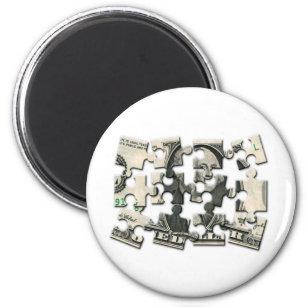 Dollar-Puzzlespiel Runder Magnet 5,7 Cm