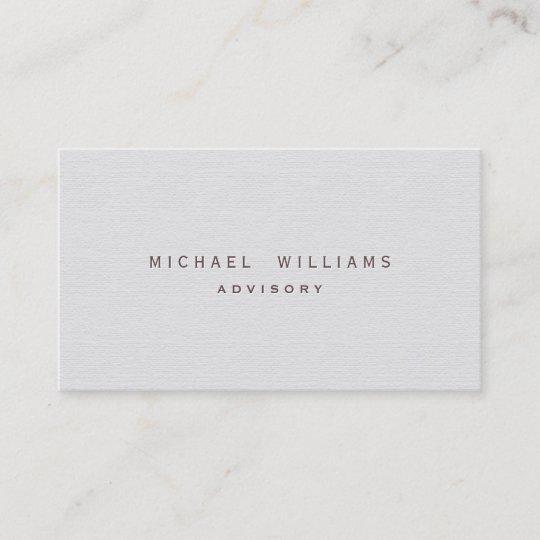 Dolmetscher übersetzer Eleganter Weißer Visitenkarte