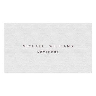 Weiße Visitenkarten