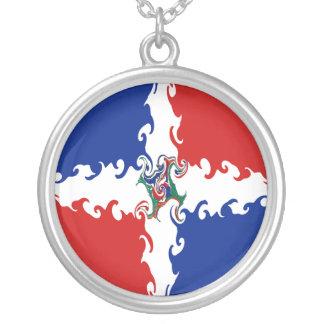 Dominikanische Republik-Gnarly Flagge Selbst Gestaltete Halskette