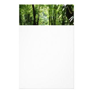 Dominikanisches tropisches Grün des Regen-Waldii Briefpapier