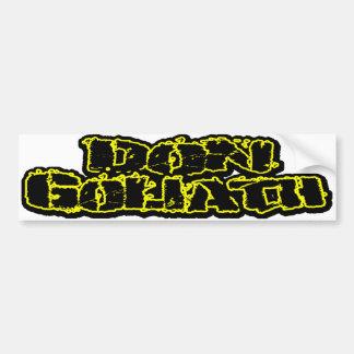 Don Goliath Autoaufkleber