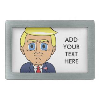 Donald Trump, der eingebildet schaut Rechteckige Gürtelschnalle