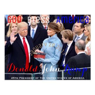 Donald Trump, der seinen Amtseid am 20. Januar Postkarte