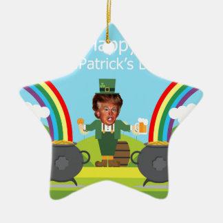 Donald- Trumpkobold Keramik Stern-Ornament