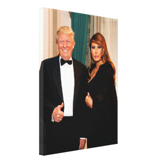 Donald- u. Melania-Trumpf Leinwanddruck