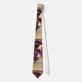 Donna Orechini durch Alphonse Mucha Bedruckte Krawatte