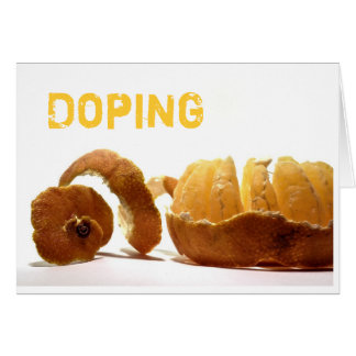 Doping Grußkarte