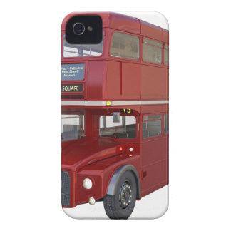 Doppeldecker-roter Bus im vorderen Profil iPhone 4 Hüllen