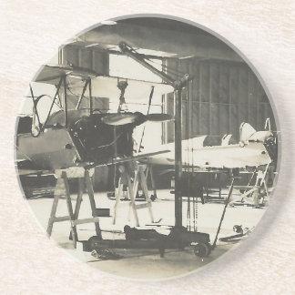 Doppeldecker-Trainer im Jahre 1941 Sandstein Untersetzer