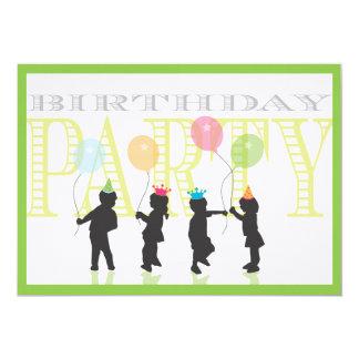 Doppeljungen-und Mädchen-Geburtstags-Einladung 12,7 X 17,8 Cm Einladungskarte