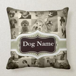 Doppelseitiger Hundename und Foto-Kissen Kissen