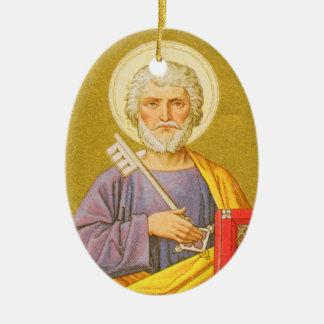 Doppelseitiger St Peter der Apostel (PL 07) Keramik Ornament