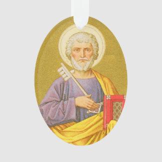 Doppelseitiges Acryl St Peter (P.M. 07) Ornament