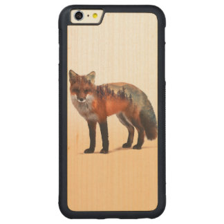 Doppelte Belichtung Fox - Fuchskunst - roter Fuchs Carved® Maple iPhone 6 Plus Bumper Hülle