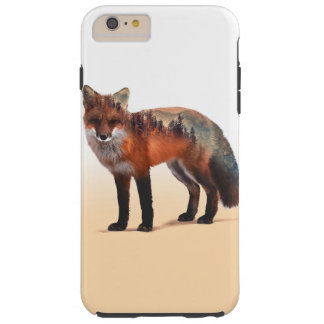 Doppelte Belichtung Fox - Fuchskunst - roter Fuchs Tough iPhone 6 Plus Hülle