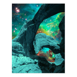 Doppelter Bogen in der Raum-Postkarte Postkarte