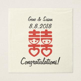 Doppelter Glück-Chinese Papierserviette