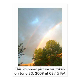 Doppelter Regenbogen 6/23/2009 Postkarte