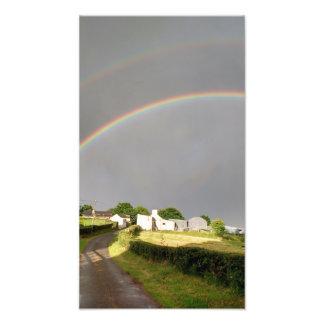 Doppelter Regenbogen Fotodruck