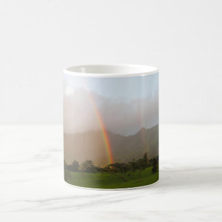 Doppelter Regenbogen Kaffeetasse