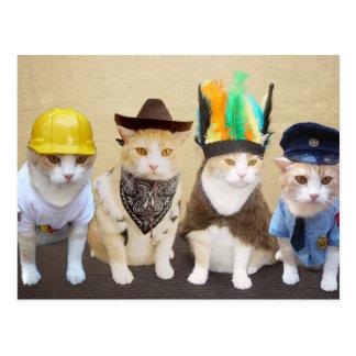 Dorf-Kätzchen Postkarte