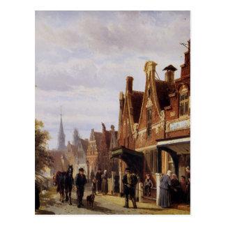 Dorfansicht durch Cornelis-Springer Postkarte
