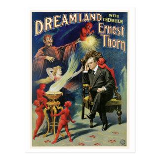 Dornen-Magier ~ Traumland-Vintage magische Tat Postkarte
