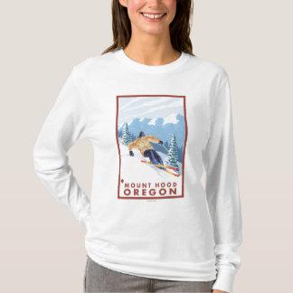 Downhhill Schnee-Skifahrer - Berg-Haube, Oregon T-Shirt