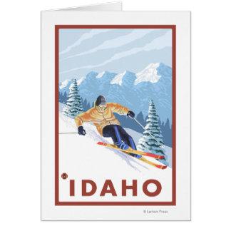 Downhhill Schnee-Skifahrer - Idaho Karte