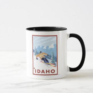 Downhhill Schnee-Skifahrer - Idaho Tasse