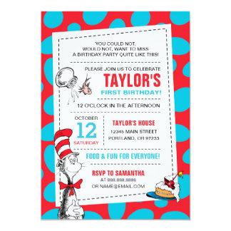 Dr. Seuss | die Katze im Hut-Geburtstag 12,7 X 17,8 Cm Einladungskarte