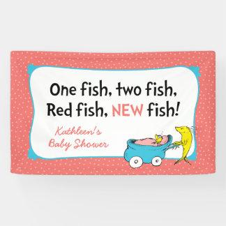 Dr. Seuss | ein Fisch - Mädchen-Babyparty Banner