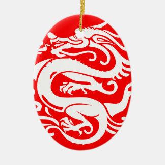 Drache-China Chinaelemente Ovales Keramik Ornament
