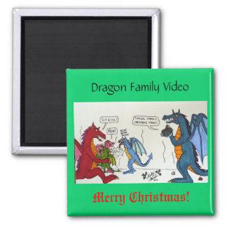 Drache-Familien-Video Kühlschrankmagnete