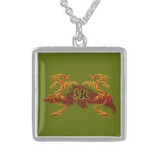 Drachen der Halskette 2, Feuer, chinesisches