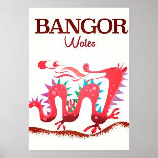 Dracheplakat Bangors Wales Poster
